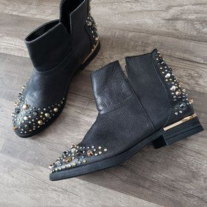 Modern Vice Studded Leather Moto Ankle Boots